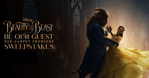 Disney Be Our Guest Sweepstakes - disney beauty and the beast be our guest red carpet premiere sweepstakes