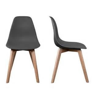 chaise stokholm gris bois lot de 2 chaise design