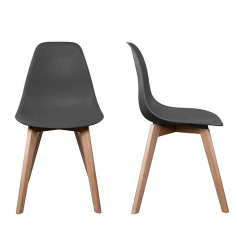 pied de chaise en bois chaise stokholm gris pieds bois lot de 2 chaise design