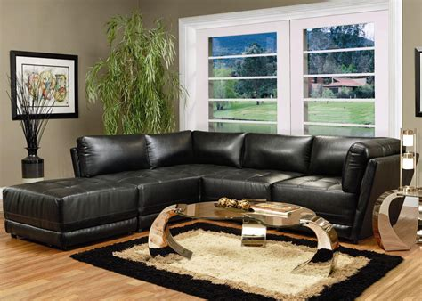 modular sectional sofa leather contemporary black leather modular sectional sofa set coaster