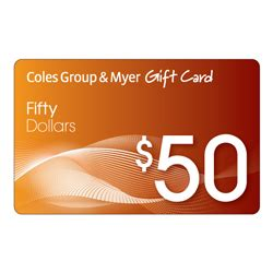 Myers Gift Cards - day 22 advent calendar 2013 50 coles myer gift