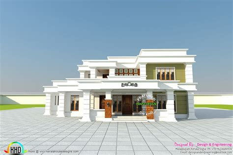home design by engineer 355 sq yd decorative flat roof home kerala home design