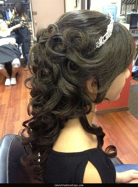 cute hairstyles for quinceaneras curly hairstyles quinceanera latestfashiontips com