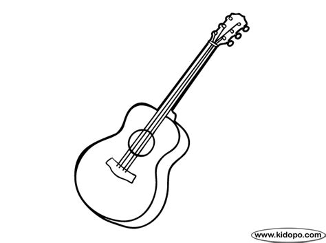 acoustic guitar coloring page simple guitar coloring pages cooler inspiration
