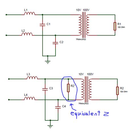 high pass filter impedance low pass what load impedance to use for lc filter before transformer electrical engineering