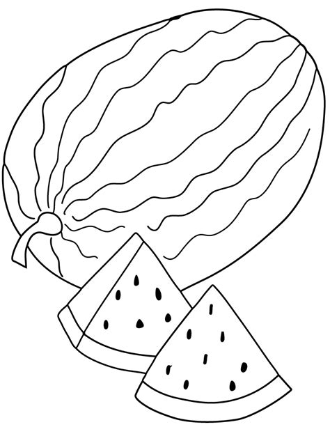 Watermelon Coloring Pages 6 Watermelon Coloring Page