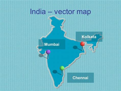 Powerpoint Map Of India Including States India Map Ppt