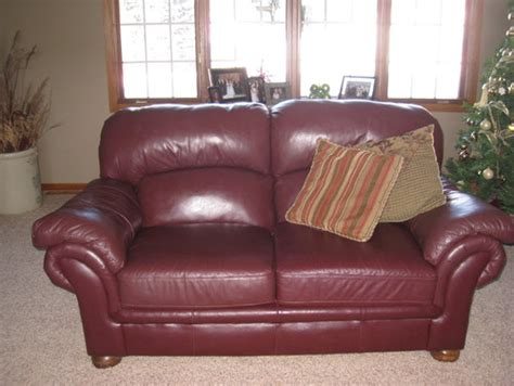 need color punch added to burgundy leather furniture