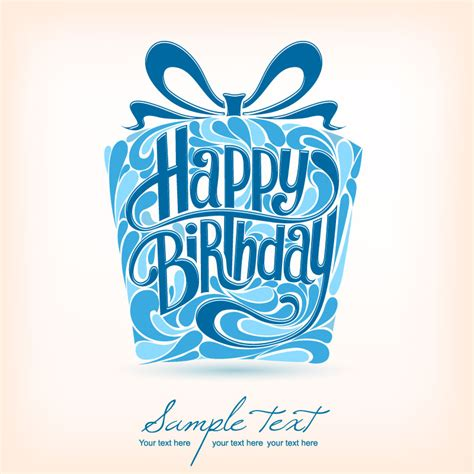 happy birthday card design vector illustration gift design happy birthday vector free vector graphic
