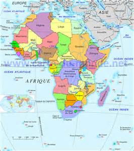 carte afrique carte du monde