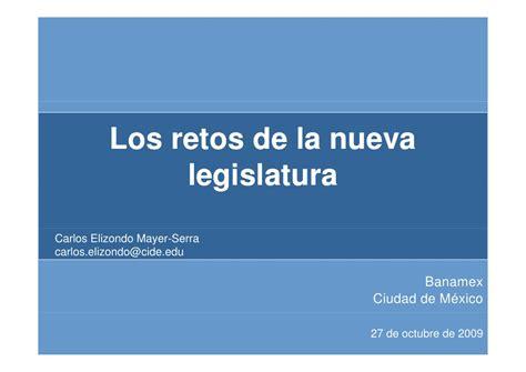 los retos de la nueva legislatura