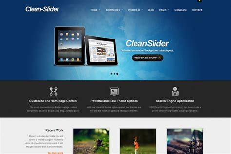 theme wordpress with slider free clean slider wordpress theme from themeforest