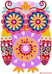 colorful owls colorful owl quot digi quot by thaneeya mcardle flickr