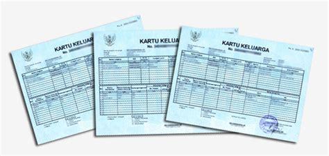 format kartu keluarga kosong format kartu keluarga sementara