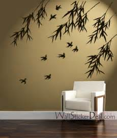 wall decals for home decorating birds and bamboo wall stickers home decorating photo