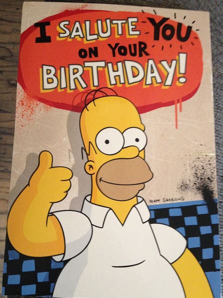 Simpsons Birthday Card A Very Figgy Birthday And A Super Happy Wookieethe