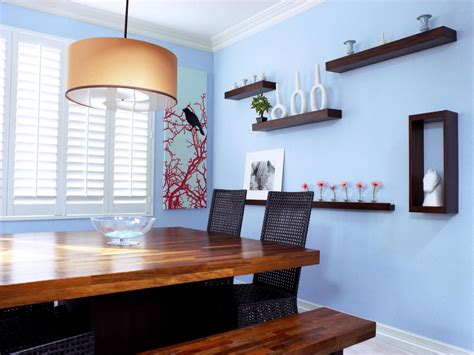 dining room wall shelves decorating with floating shelves interior design styles