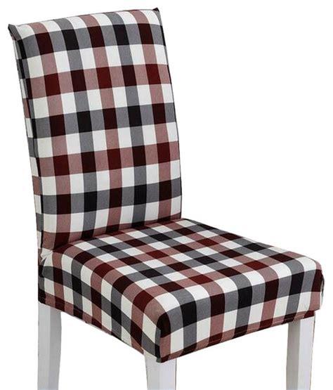 Plaid Dining Room Chair Cushions Plaid Stylish Dining Chair Slipcover Chair Cover Chair