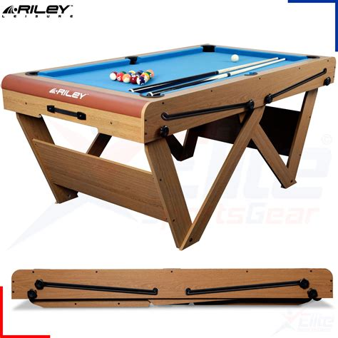fold up pool riley 6ft w leg pool table snooker pool balls cues