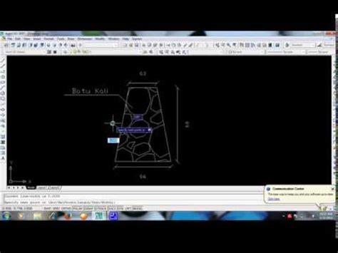 tutorial menggambar instalasi listrik dengan autocad tutorial menggambar fondasi batu kali dengan autocad youtube