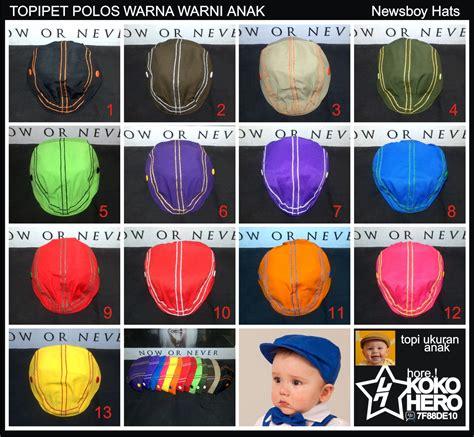 Topi Pet Polos Anak jual topi pet anak bayi topipet kanvas polos polosan baby