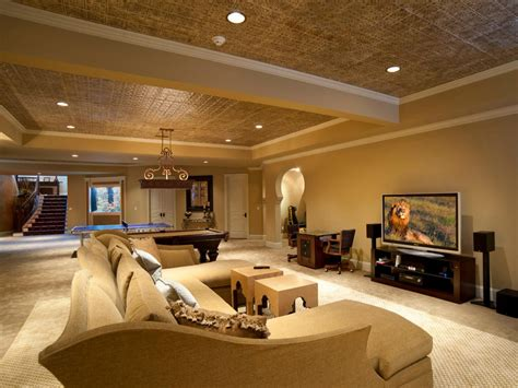 basement designs basement remodel splurge vs save hgtv