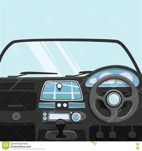 for inside car vehicle interior inside car vector illustration