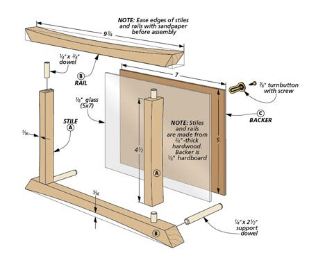 miterless picture frames woodworking project woodsmith