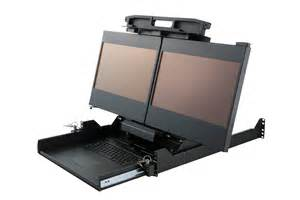 dual display rack mount monitor rugged portable