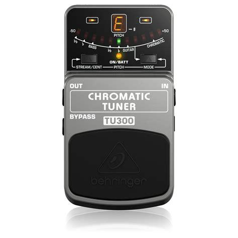 Chromatic Tuner behringer tu300 chromatic tuner pedal at gear4music