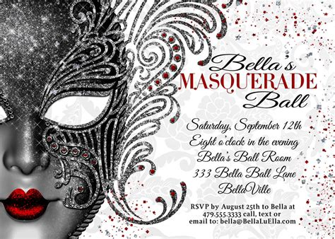 masquerade party masquerade invitation mardi gras party
