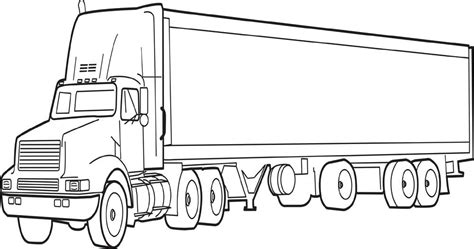 Semi Coloring Pages by Semi Truck Coloring Pages Printable Coloring Image