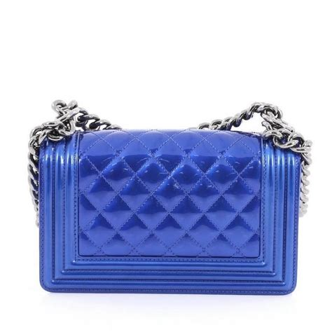 chanel boy flap bag quilted patent small for sale at 1stdibs