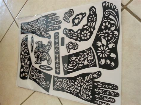 amazon henna tattoo self adhesive decal stencils for henna