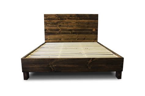Reclaimed Wood Platform Bed Frame Rustic Solid Wood Platform Bed Frame Headboard Reclaimed