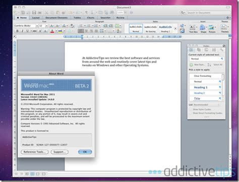 themes in microsoft word for mac word 2011 for mac review what s new