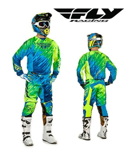 fly racing motocross gear fly racing 2015 mx kinetic glitch blue jersey pant