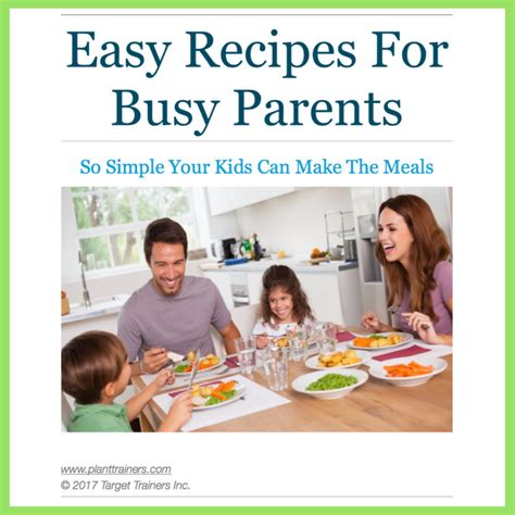 the author easy blogging for busy authors books easy recipes for busy parents plant trainers