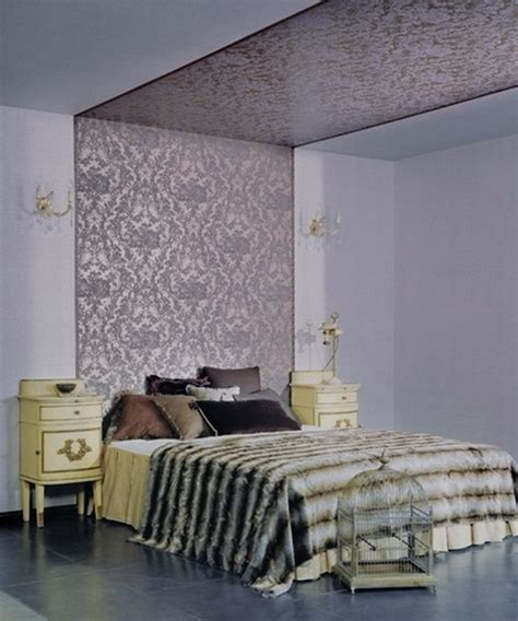 wallpaper accent wall in bedroom focusing on one wall in bedroom swedish idea of using