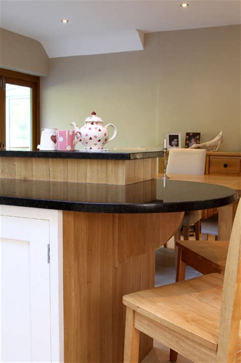 wimborne white kitchen with character oak panels