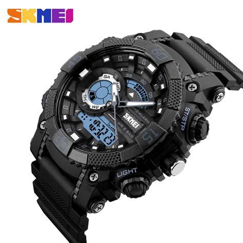 Tasbih Digital Murah Cod Ke Toko skmei jam tangan analog digital pria ad1228 black jakartanotebook