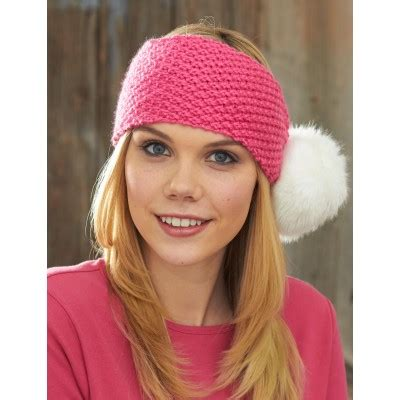 how to knit a headband for beginners step by step caron pompom headband knit pattern yarnspirations