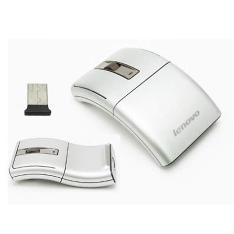 Mouse Untuk lenovo wireless laser mouse untuk komputer laptop notebook pc warna silver elevenia