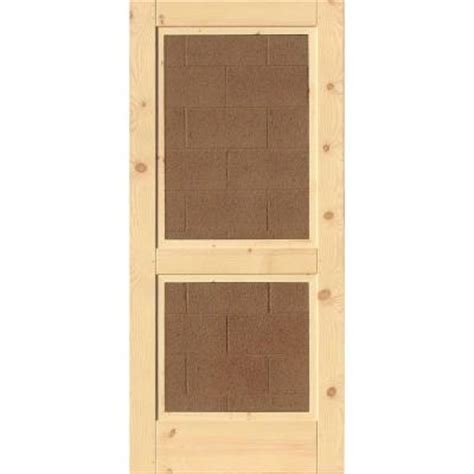 Wooden Screen Doors At Home Depot by 36 In Wood Unfinished 2 Panel Screen Door