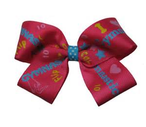 ribbon for hair that says gymnastics large hot pink gymnastics gymnast hair bow