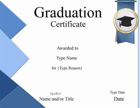 Graduation Gift Card Template by Graduation Certificate Template Customize Print
