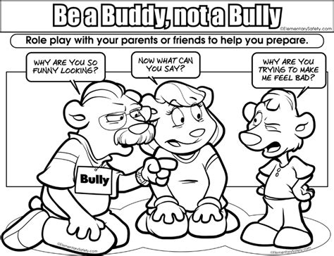 Color Page Bullying Images Bullying Coloring Pages