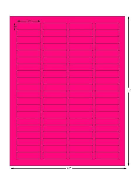 avery pink sheet labels 80 labels per sheet 5 x 1 75
