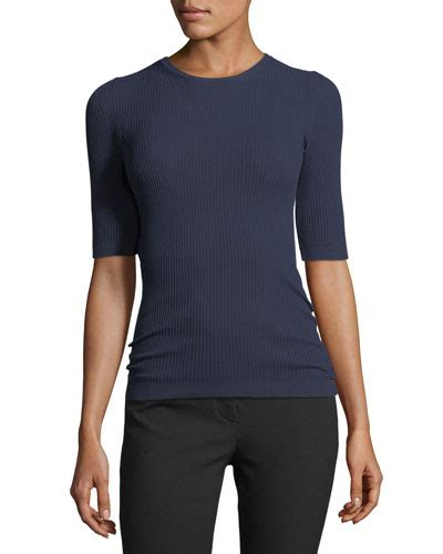 Bj 1295 Sleeve Rib Blouse theory clothing sweaters at bergdorf goodman