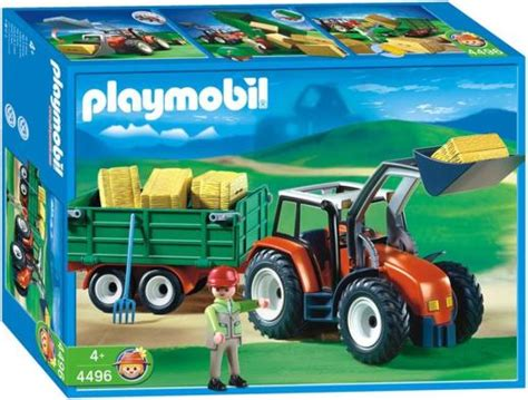 Playmobil Tractor playmobil 4496 tractor with hay trailer 163 24 99 playmobil 4496 tractor with hay trailer